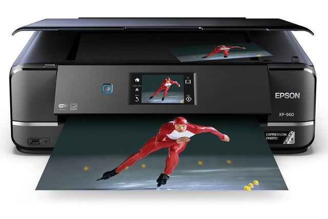 epsons updated expression home photo printers include wide format model epson xp 960 front view
