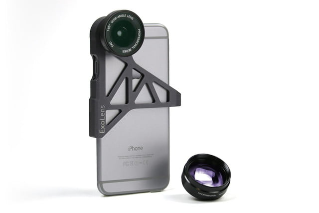 exolens premium wide angle and telephoto lens customized for iphone 6 3