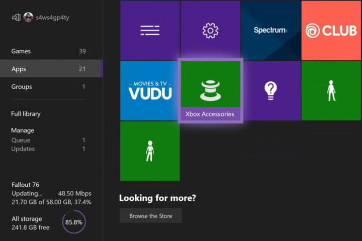 Find Xbox One Accessories App
