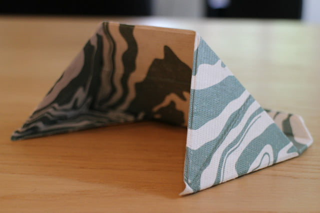 Origami Square / House Shaped Card Stand Tutorial - DIY - Paper ... | 427x640