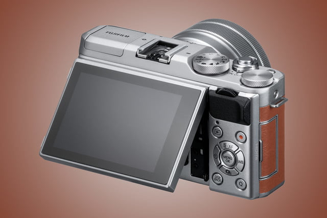 Fujifilm X-A5 rear with articulating LCD screen