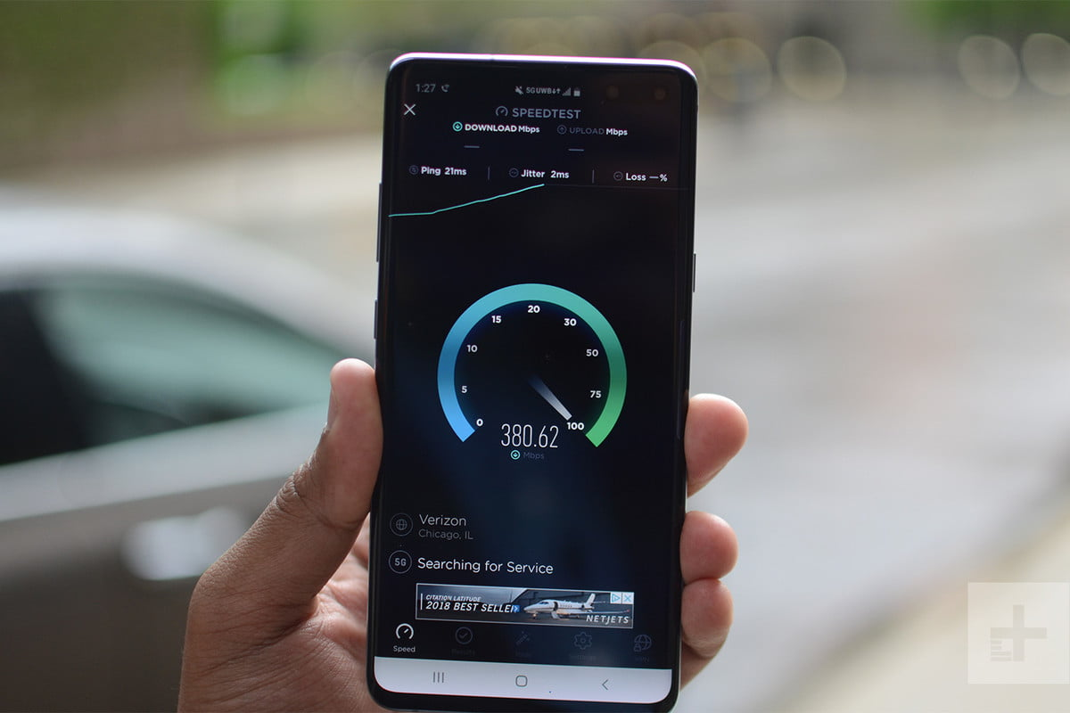 galaxy s10 5g speed test