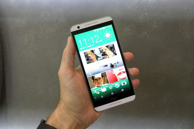 htc desire 820 hands on front angled