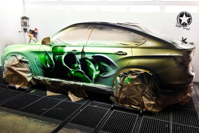 bmw x6 color changing paint pictures video hulk 3