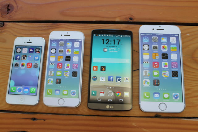 iphone 6 plus size comparison lg g3