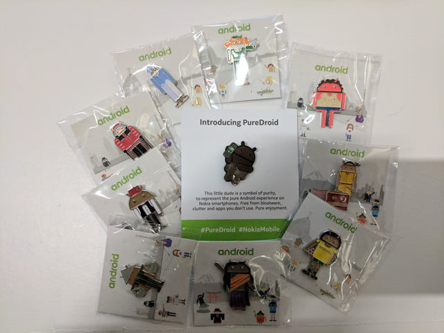 android global village mwc 2017 pins