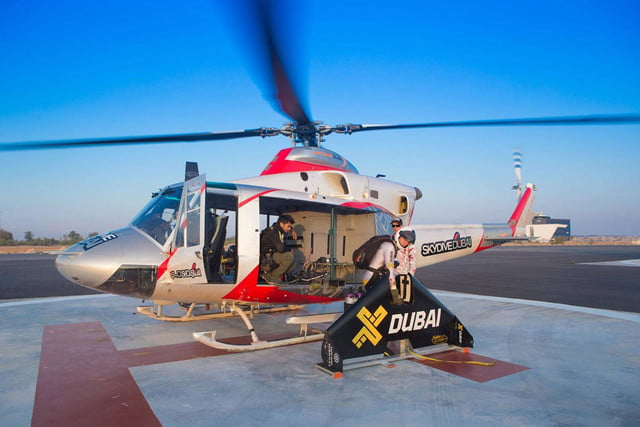 Jetman Dubai helicopter taking off