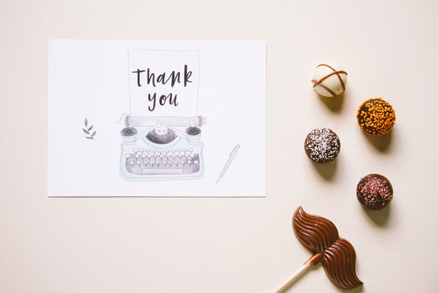 envelope uses robots to write thank you notes for your wedding landscape tyc thankyou