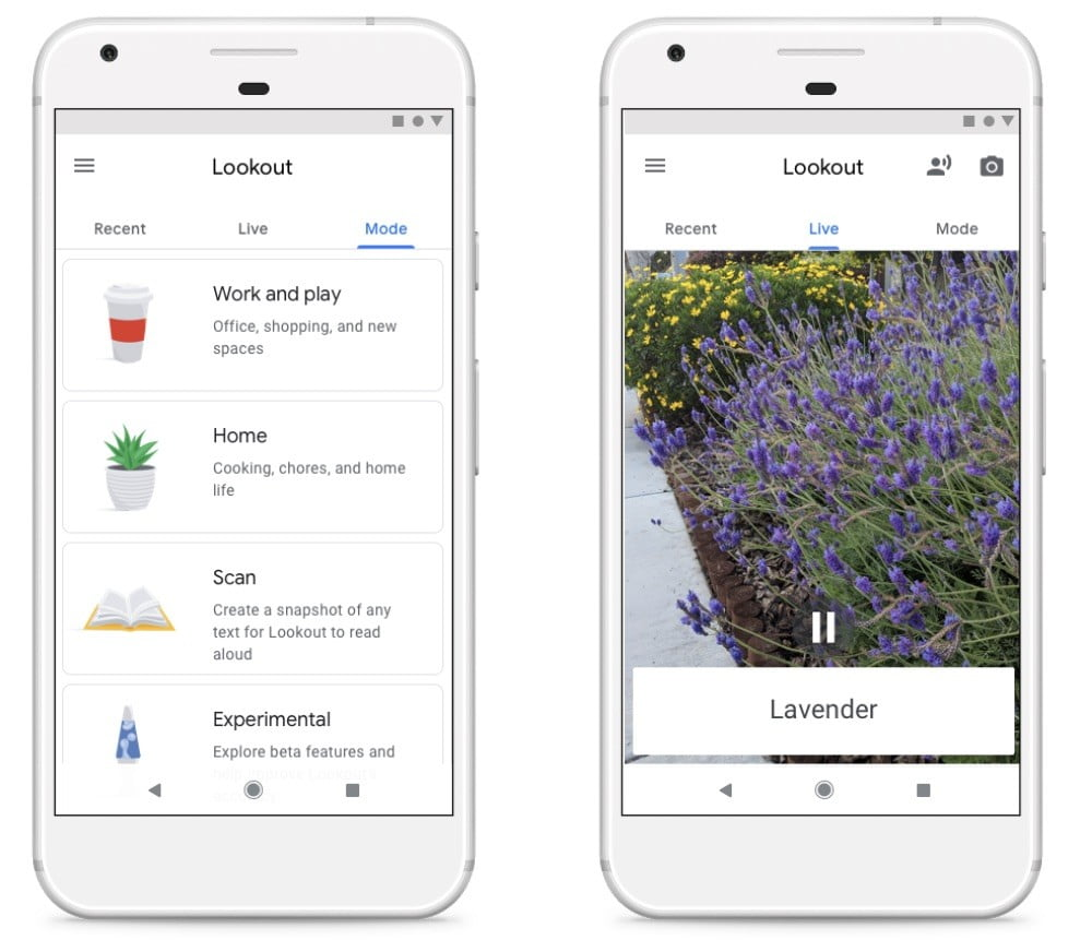 Android Help App android p's lookout app uses camera to help visually