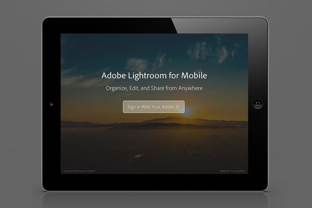 adobes lightroom lands on ipad subscription only lr mobile cc