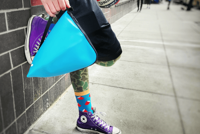 mighty stash pack lunch bag street blue
