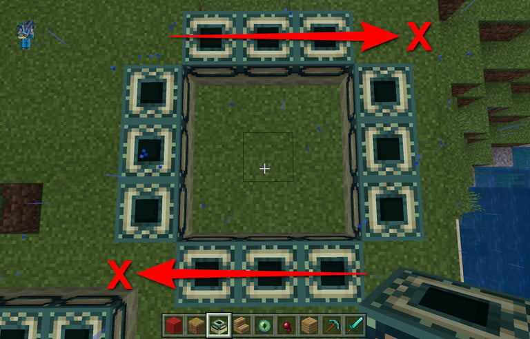 Minecraft Incorrect End Portal Frame Block Placement