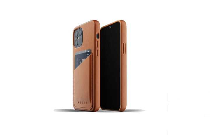 Mujjo Full Leather Wallet Case for iPhone 12 and 12 Pro