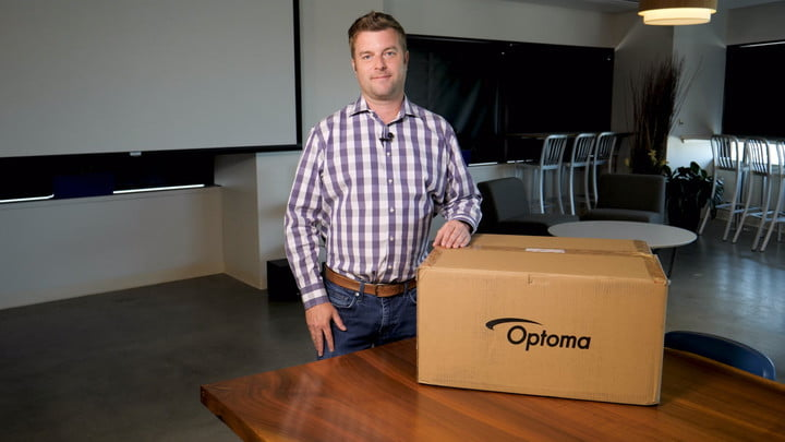 Optoma UHD60 projector unboxing and setup | Video | Digital