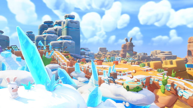 Overview of desert and snow environment — Mario + Rabbids Kingdom Battle