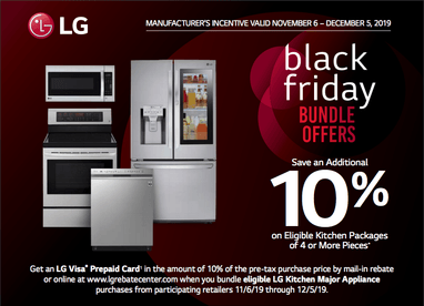 Lg Black Friday Kitchen Appliance Deal Get 10 Back As A Gift Card When You Buy A Bundle Digital Trends