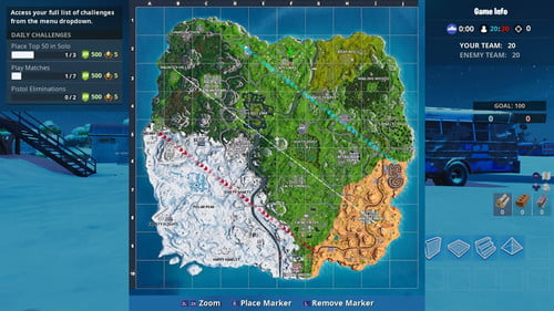 image regarding Printable Fortnite Map called Fortnite Period 7 Map Direct: All Fresh Destinations, Terrain, and