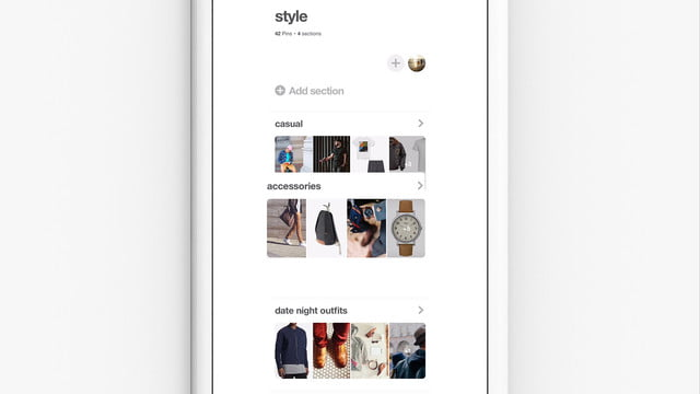 pinterest update organize andarchive boards section reordering still