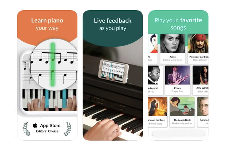 Skoove best piano-learning app