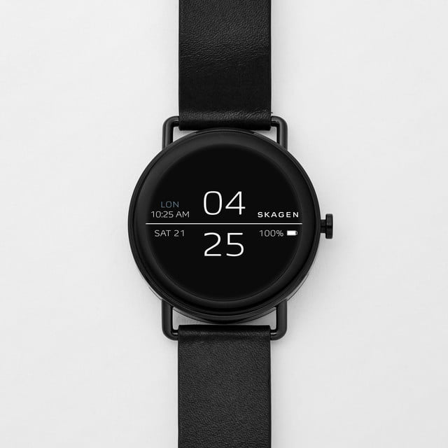 skagen falster news black leather