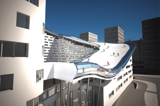 house slalom is an apartment building with a ski slope concept shokhan mataibekov 004