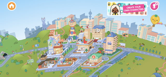 Toca Life World map