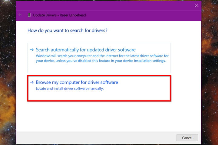 Update Drivers Browse My Computer