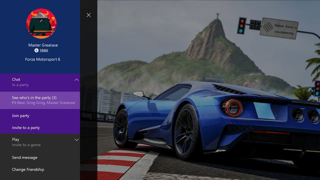 xbox one february update improves parties adds gamerscore leaderboards party details console