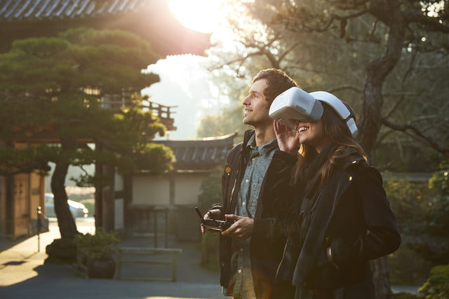 dji goggles launched  flying with friend 2