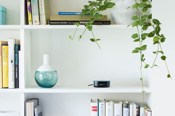 how to hide wires tech smart apartment echo dot bookshelf