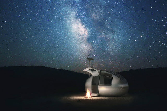 high tech glamping holiday ideas ecocapsule portable house
