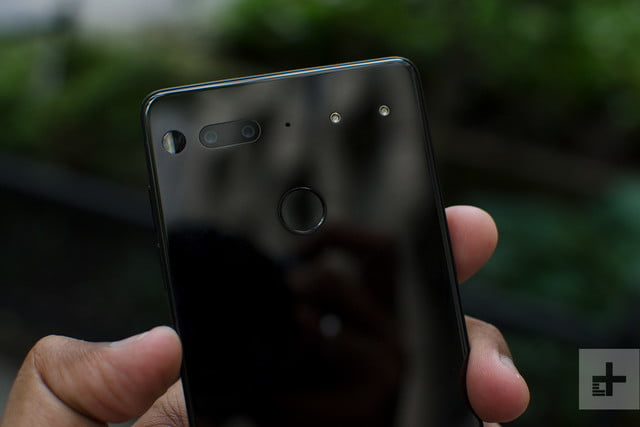 Essential phone review back outside