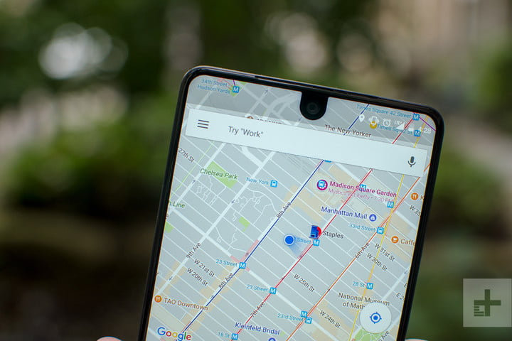 Essential phone review maps