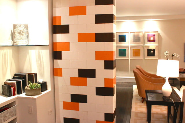 everblock makes life sized legos for furniture building lego wall