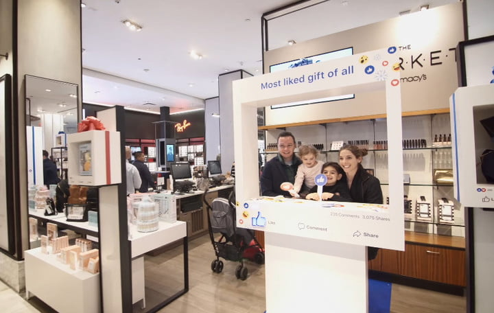 facebook opens pop up stores at macys to showcase online brands store