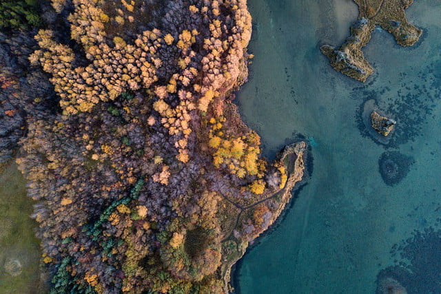 best drone photos fall textures