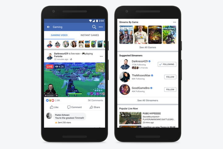 facebook tackles twitch mixer with game streaming portal fb gaming video destination mobile