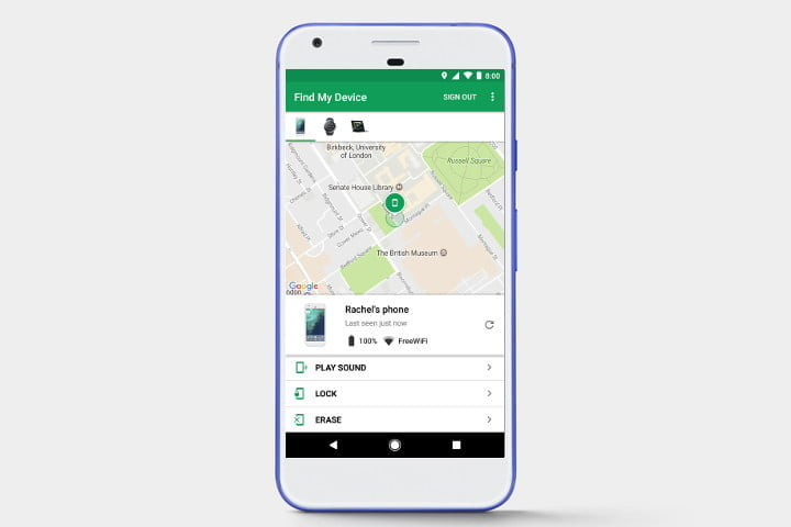 Find My Device - how to track a phone