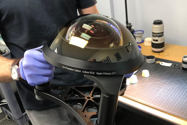 Watch the construction of a giant, widest ever 270 degree fisheye lens