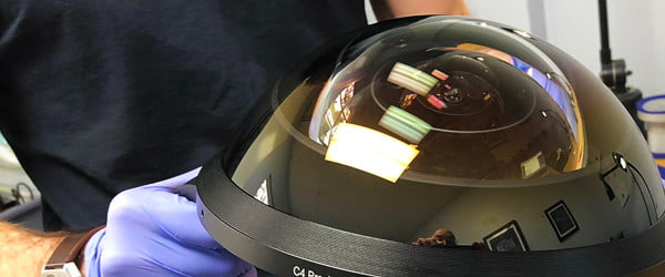 Watch the construction of a 270-degree fisheye lens, the widest ever