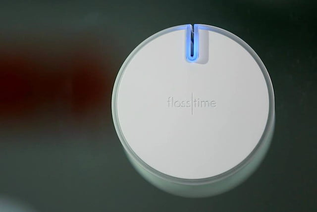the flosstime reminds when you forget to floss smart device