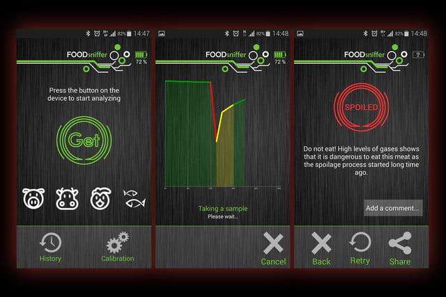foodsniffer analyzes chemicals to detect food spoilage android