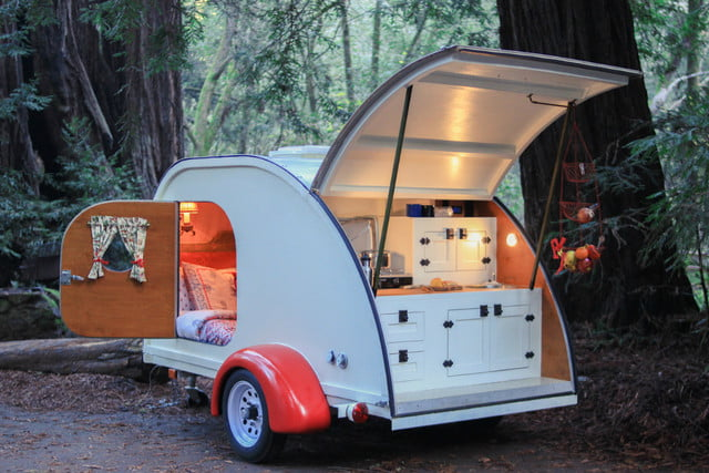 camp weathered forest cottage teardrop trailer forestcottage1