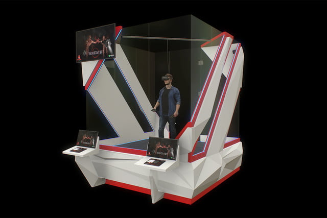 climb into this glass box in a vegas casino to play vr games for cash bets gamblit 3