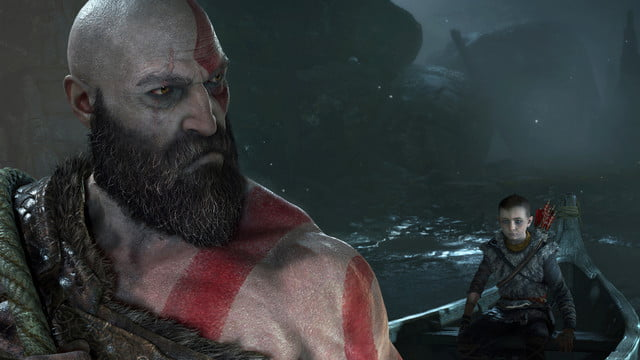 God of War Review | Kratos senses something is amiss while he and Atreus cross a waterway