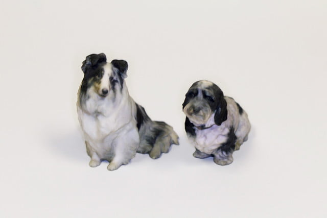 Gravityb 3D printed dog two pups