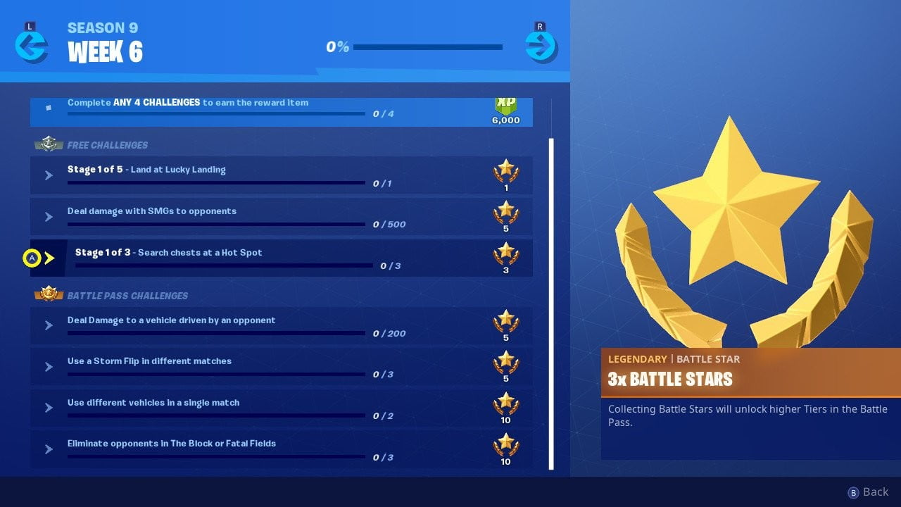 Fortnite season 9, week 6 challenge guide: Search chests and get a kill at a hot spot