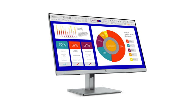 hp launches new monitors and all in one ces 2019 elitedisplay e243p sure view monitor front right
