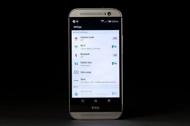 HTC 1 M8 front settings