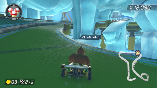 mario kart 8 shortcuts ice outpost